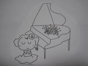 ピアノ広告の絵