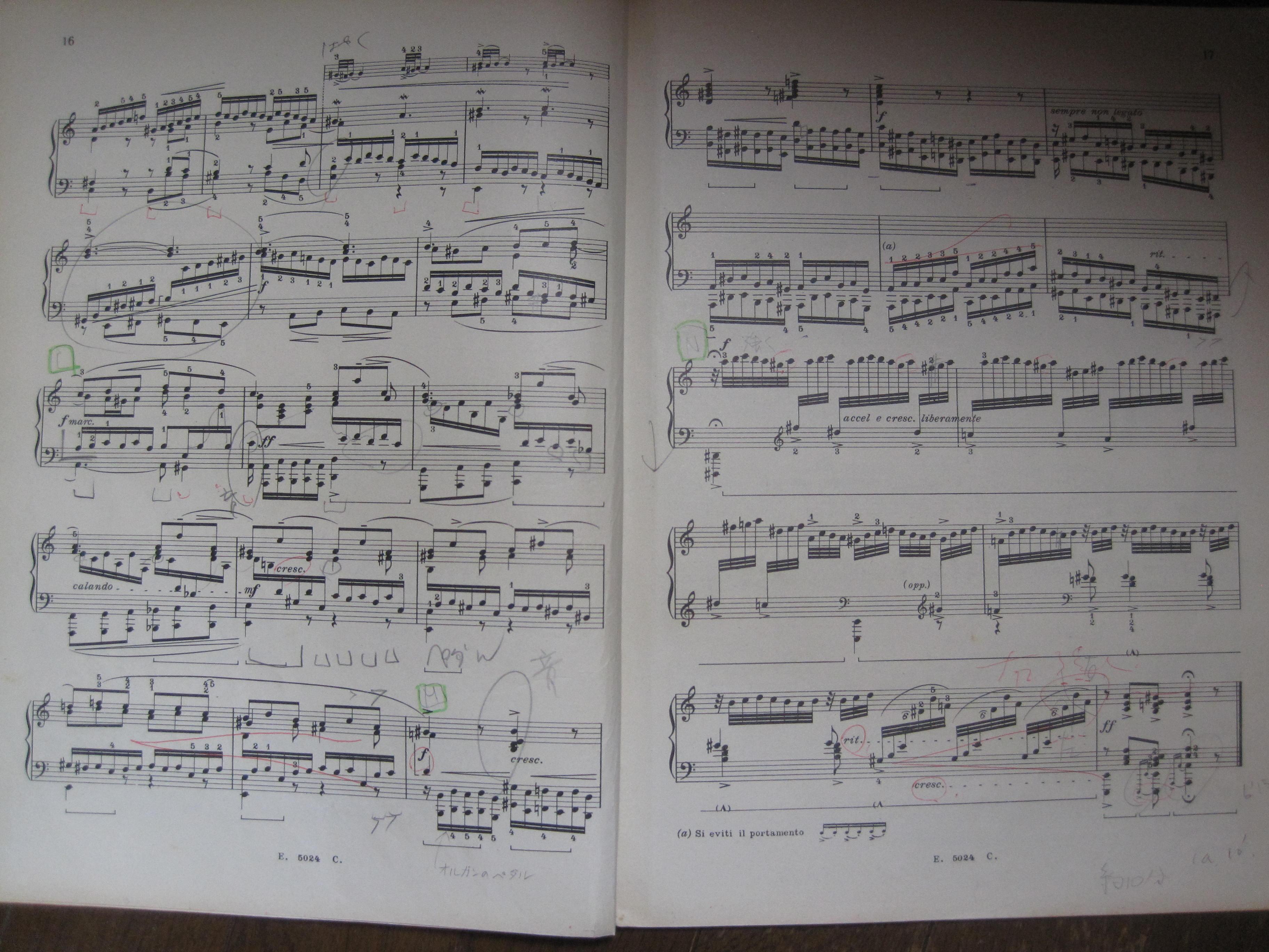 バッハリスト楽譜