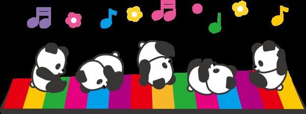 パンダさんの音符
