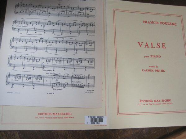プーランク ワルツ楽譜