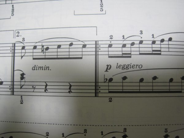 ピアノの演奏記号
