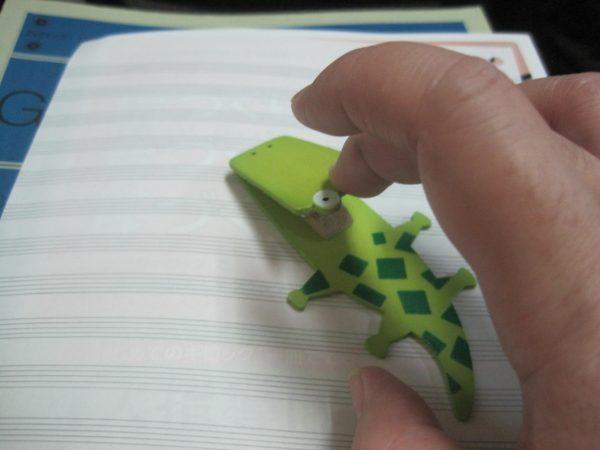 クリップを使ったピアノタッチポイン
