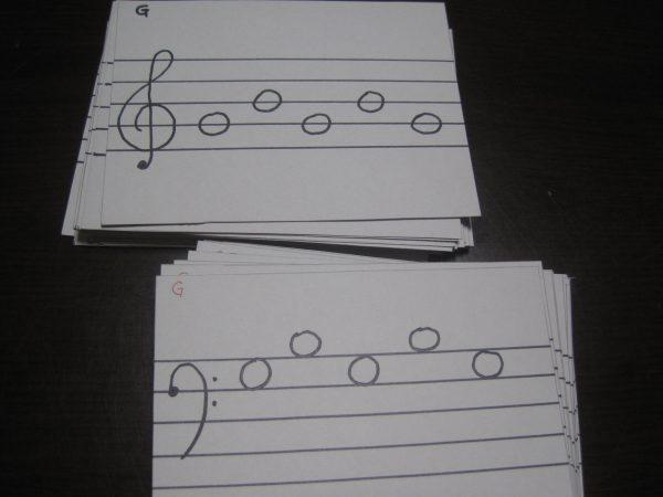 音符カード手作り