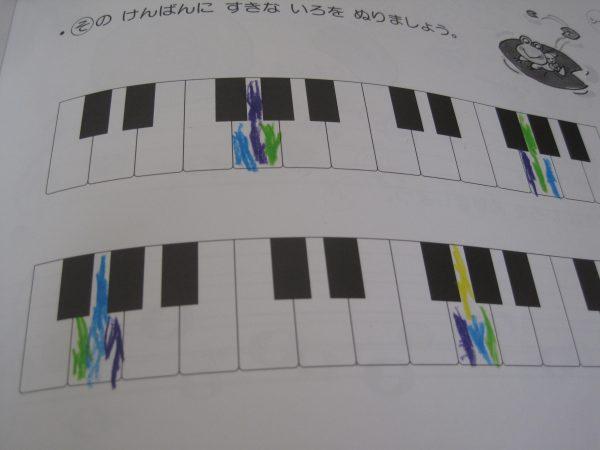 ソの鍵盤色塗りカラフル