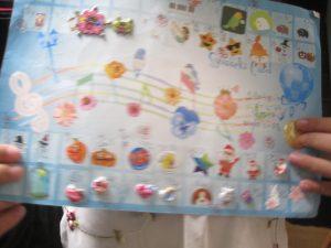 ピアノ教室出席カード2