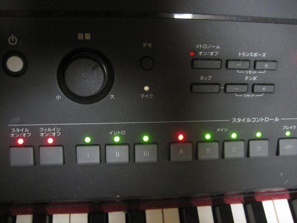 電子ピアノのタップ
